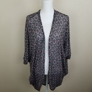 Painted Threads Wine Aztec Open Cardigan Size S